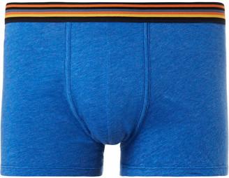 Paul Smith Mélange Cotton-Jersey Boxer Briefs $45 thestylecure.com