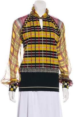 Jean Paul Gaultier Plaid Patterned Sweater