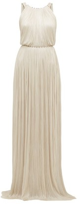 Maria Lucia Hohan Jayla Silk Tulle Crystal Embellished Maxi Dress - Womens - Ivory