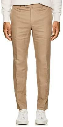 Pt01 Men's Linen-Cotton Slim Trousers