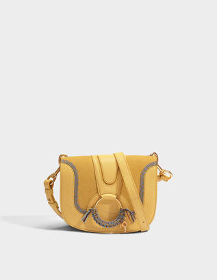 See by Chloe Hana Small Crossbody Bag in Pineapple Yellow Grained and Suede Cowhide Leather with Rope