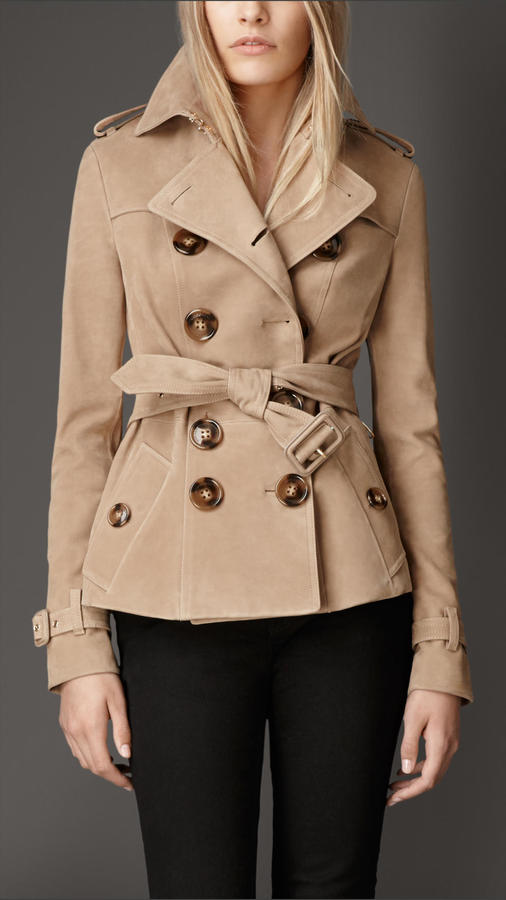 Burberry Calf Suede Trench Jacket