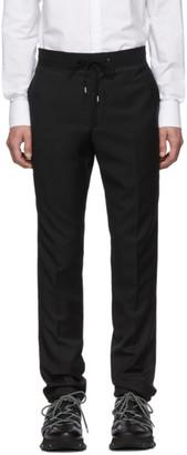 Lanvin Black Grosgrain Belt Slim-Fit Trousers