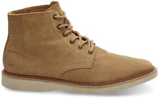 Toms Water Resistant Toffee Suede Men's Porter Boots