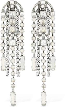 Lanvin Crystal Pendent Earrings