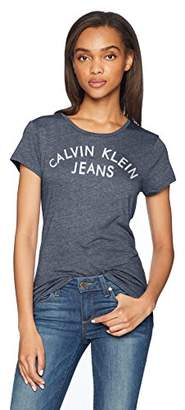 Calvin Klein Jeans Women's Short Sleeve T-Shirt Iconic Logo
