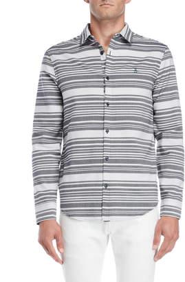 Original Penguin Horizontal Stripe Heritage Slim Fit Shirt