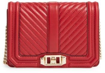 Rebecca MinkoffRebecca Minkoff Small Love Leather Crossbody Bag - Red