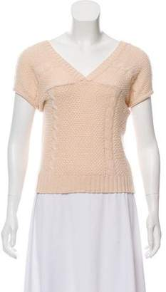 Marc Jacobs Wool Short Sleeve Sweater