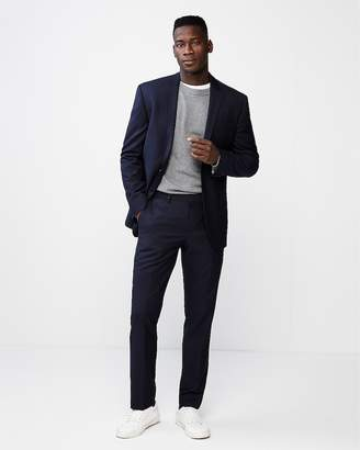 Express Slim Double Stripe Wool-Blend Suit Pant
