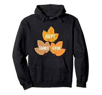 Happy Thanksgiving Fall Leaves Pullover Hoodie