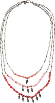 Lydell NYC Three-Row Semiprecious Layered Necklace