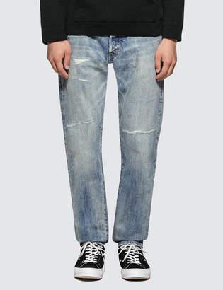 Denim By Vanquish & Fragment Washed Remake Wide Denim Jeans