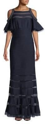 Tadashi Shoji Cold-Shoulder Column Gown