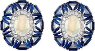Jane Kaye Cabochon Baguette Earrings