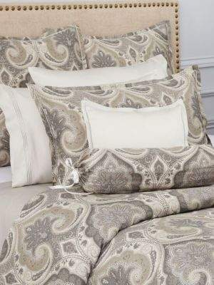 shams products duvet blurred linen cover elm west belgian ikat flax