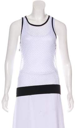 Monreal London Perforated Sleeveless Top