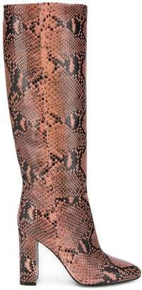 Twin-Set snake print knee boots