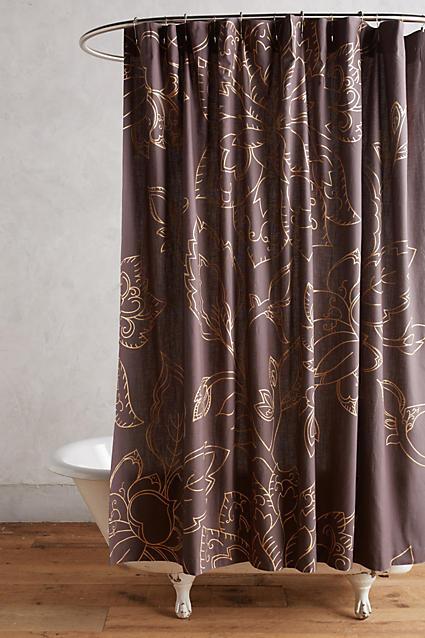 AnthropologieAnthropologie Flowered Aramie Shower Curtain