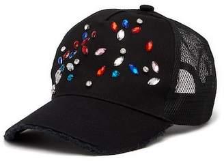 Steve Madden Jewel Embellished Baseball Hat