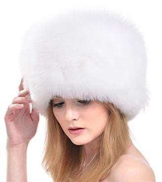 0f7f3f673ae at Amazon Canada · ZSDN Womens Winter Hats Genuine Fox Fur Hat Fur Knitted  Round Hats