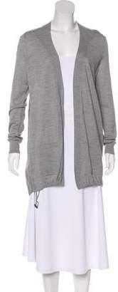 Akris Punto Silk-Paneled Wool Cardigan