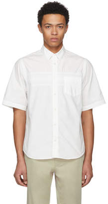 Sacai White Short Sleeve Typewriter Shirt