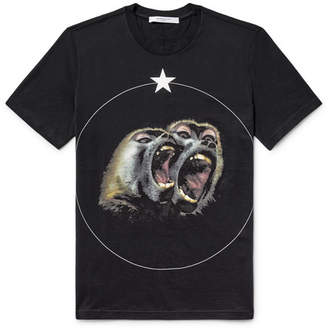 Givenchy Cuban-Fit Monkey Brothers Printed Cotton-Jersey T-Shirt