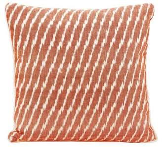Nourison Life Styles Ikat Orange Throw Pillow