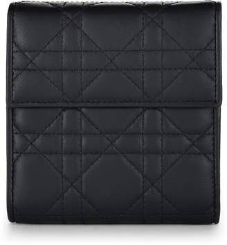 Christian Dior Black Cannage Quilted Lambskin Wallet