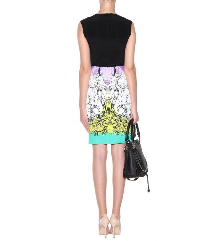 Etro Printed crepe skirt
