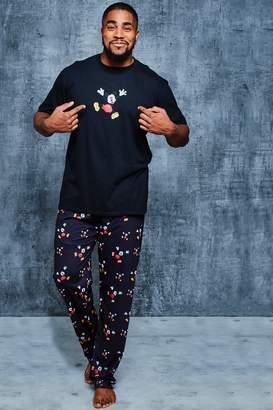 boohoo Big And Tall Disney Pyjama set in Mickey Print