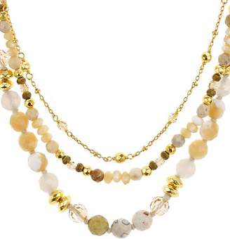 """Chan Luu Faceted-Bead Layered Necklace, 16"""""""