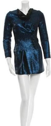 Roland Mouret Metallic Mini Dress w/ Tags