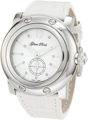 Glam Rock Men's Miami Dial Diamond Accented Alligator Watch GLAMROCK-GRD10005