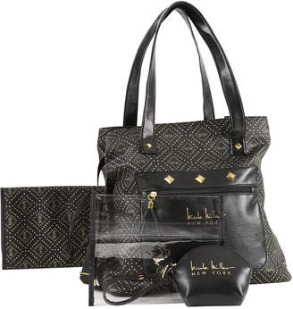 4859e9455a24 Nicole Miller Soho Patterned Tote Bag w  Pullout Pouches