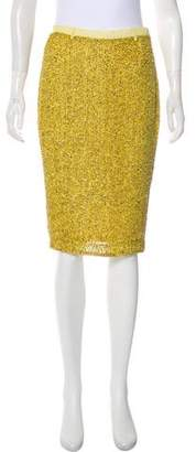 Robert Rodriguez Sequined Silk Skirt w/ Tags