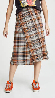 Acne Studios Plaid Midi Skirt