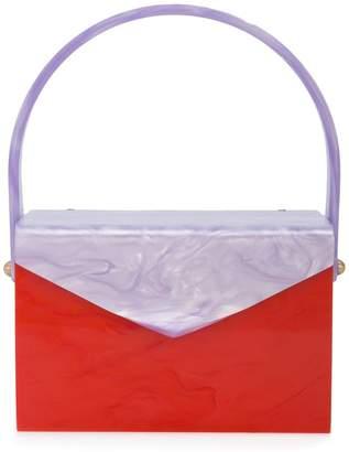 Edie Parker marbled clutch bag