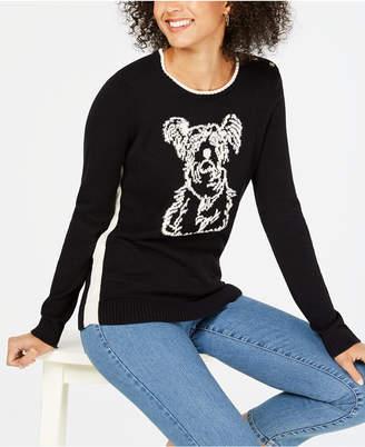 Charter Club Petite Printed Sweater
