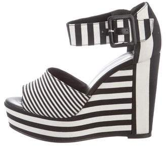 Pierre Hardy Striped Wedge Sandals