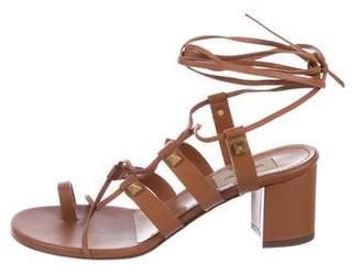 Valentino Rockstud Lace-Up Sandals
