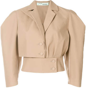 cropped structured jacket