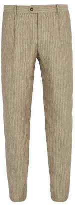 BEIGE Éditions M.R Editions M.r - Francois Striped Linen Trousers - Mens Multi