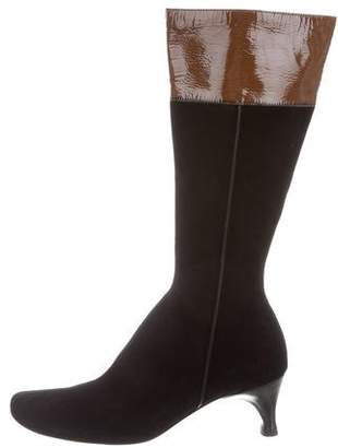 CNC Costume National Suede Round-Toe Boots