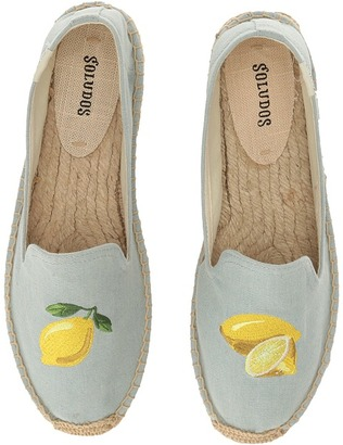 Soludos - Lemon Platform Women's Shoes $75 thestylecure.com