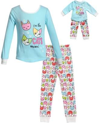 Dollie   Me Girls 4-14 Top   Bottoms Pajama Set   Matching Doll Pajamas 390d23bb7