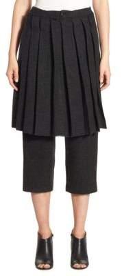 Pleated Skirt Pants