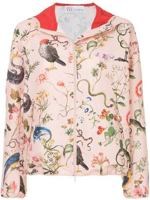 RED Valentino flora and fauna print hooded jacket