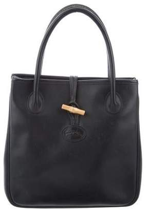 Longchamp Leather Handle Bag gold Leather Handle Bag